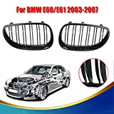 Tips4Wise Front Gloss Black Kidney Grilles Double line Grill For BMW E60 E61 5 Series M5 2003-2010