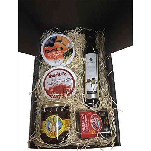Estuche con productos gourmet para regalo de Navidad