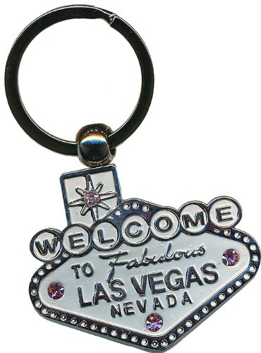 Keychain - Las Vegas Sign - Chrome