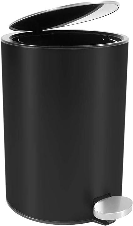 Bamodi Mulleimer Bad Edelstahl 3l Stylisher Kosmetikeimer Mit Absenkautomatik Fur Dein Badezimmer Matt Schwarz Amazon De Kuche Haushalt