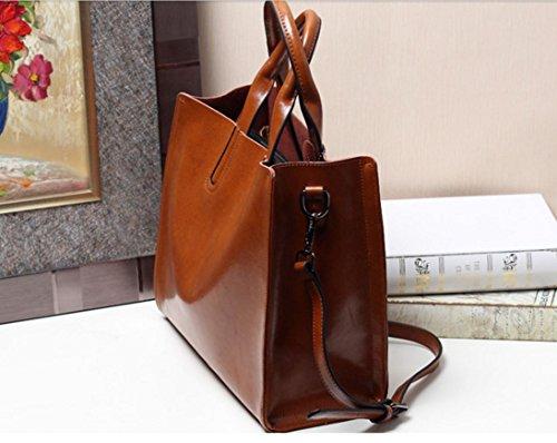 Genuine Women's Purse JeHouze Crossbody Top Handle Leather Wine Handbag Red SBTwnq7F5
