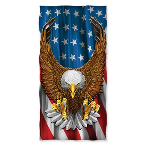 Brand New 100% Cotton American Eagle USA Beach/Shower Towel