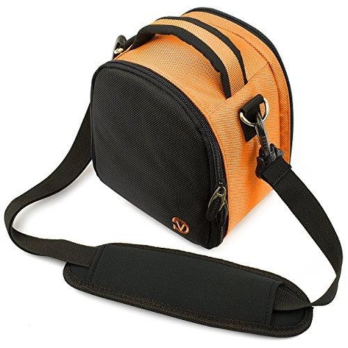 VG Orange Laurel DSLR Camera Carrying Bag with Removable Shoulder Strap for Pentax K x Digital SLR Camera