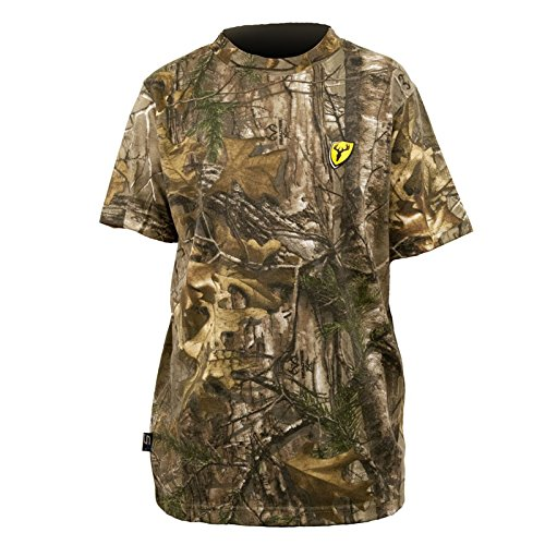 (Scent Blocker Youth Short Sleeve Cotton T-Shirt (Large))