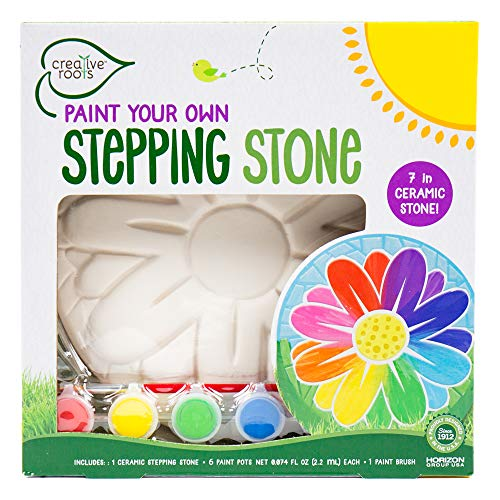 Creative Roots Paint Your Own Flower Stepping Stone by Horizon Group USA Toy, -