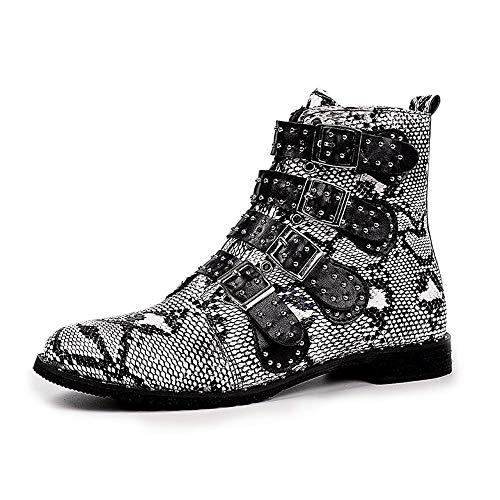 Chaud Acier Bottes Rondes Boucle Britanniques Bottines Bout 2018 Neuf Chaussures Zyueer Noir Fermeture Dames x6wqvY4w