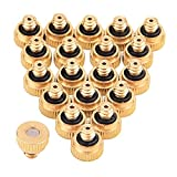 Sunmns 20 Pack Brass Misting Nozzles Outdoor