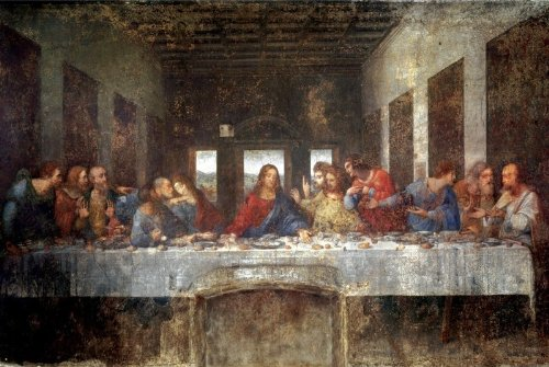 The Last Supper, c. 1498 Poster by Leonardo da Vinci 36 x 24in