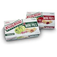 Krispy Kreme Glazed Pies - 6 Apple and 6 Cherry, 4 oz, Pack of 12