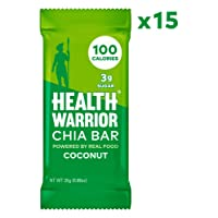 15-Count Health Warrior Chia Bars Coconut Pack 25g Deals