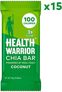 15-Pack Health Warrior Coconut Gluten Free Vegan Chia Bars