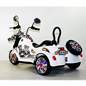 Ride on car 2 seater. Motorcycle Harley-Davidson style. For two children. Battery operated bike for kids. Two motors. Two battery at 6v, total 12V. Ride on moto. Electric motorcycle for kids to drive.