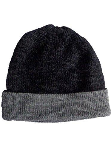 Gamboa - Warm Alpaca Cap - Black and Grey (Warm Alpaca Cap Wool)