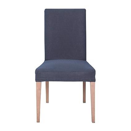 Ebeta Jacquard Fundas para sillas pack de 6 fundas sillas comedor fundas elásticas cubiertas para sillas,bielástico Extraíble funda, muy fácil de ...