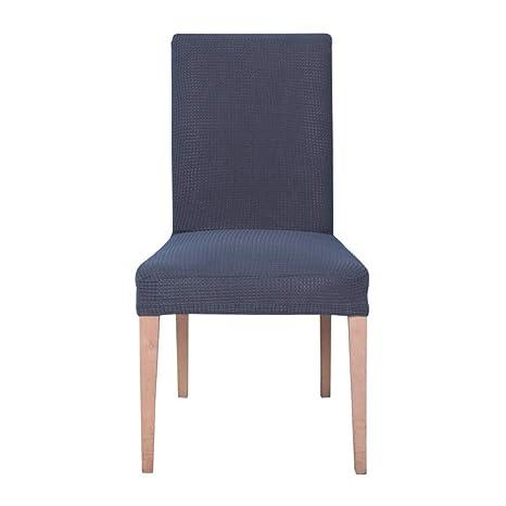 Ebeta Jacquard Fundas para sillas pack de 6 fundas sillas comedor ...