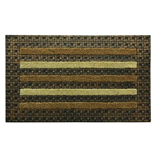 Bacova Guild 17905 Tile Stripe Koko Framed Door Mat, 20