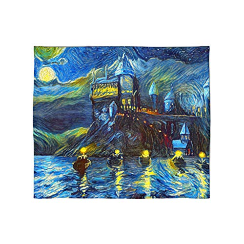 Westlake Art - Starry Night Fleece Blanket for Baby Girl or Boy, Toddlers, Soft, Warm, Cozy, Fleece, Throw Blanket for Infant or Newborn, Stroller, Travel, Decorative Van Gogh Style - 30x40in