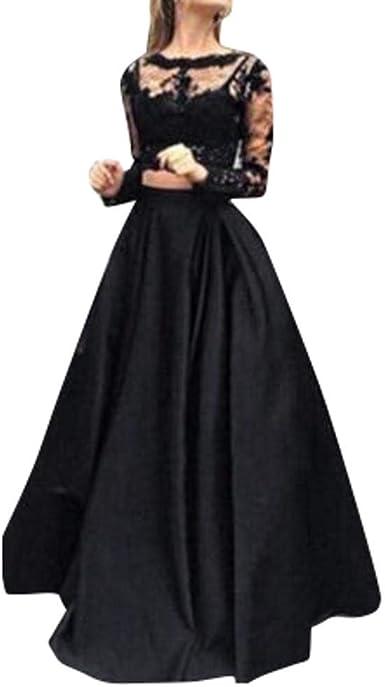 VJGOAL Mujer Primavera Moda Casual Manga Larga Formal Prom Falda ...