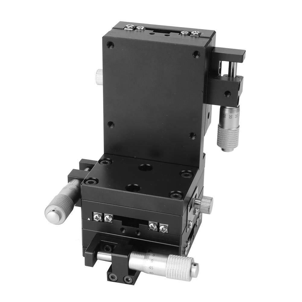 スライドテーブル、軸XYZ高精度アルミニウム合金リニアモーションマニュアルステージチューニングスライドテーブル60 * 60mm