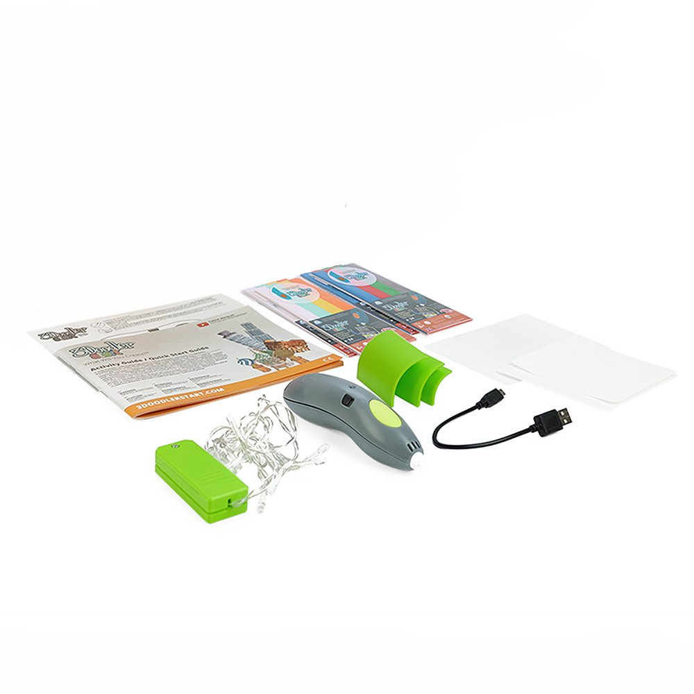 3Doodler Start Architecture Themed 3D Pen Set for Kids, Grey Pen, with 4 Packs of Refill Plastic Filaments by 3Doodler (Image #2)