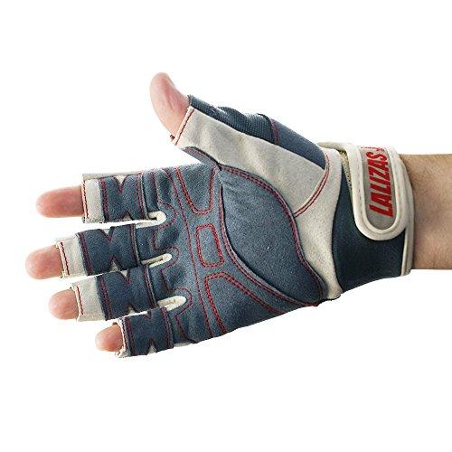 Lalizas Guantes de cuero (Amara) con cinco dedos libres, desde la talla S hasta la XXL