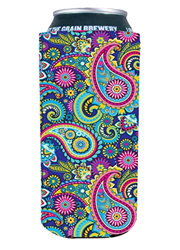 Paisley Pattern 16 oz.  Can Coolie