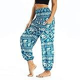 CCatyam Yoga Pants for Women, Wide Leg Trousers Print Beach Loose Sexy Casual Travel Fashion Light Blue