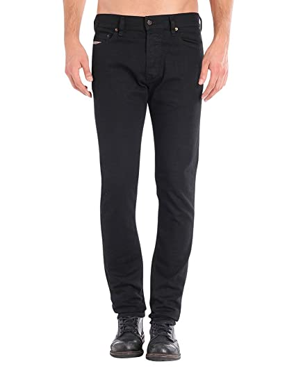 Diesel Men's Tepphar 886Z Slim Carrot Fit Jeans, Black, 29W x 30L