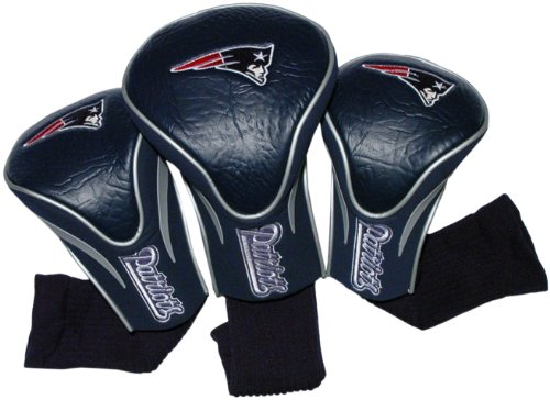 NFL New England Patriots 3 Pack Contour Fit Headcover, Outdoor Stuffs