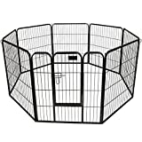"Cheap GHP 32"" Large Heavy Duty 8-Panel Metal Pet PlayPen Barrier Kennel Fence"