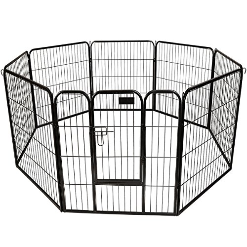 "GHP 32"" Large Heavy Duty 8-Panel Metal Pet PlayPen Barrier Kennel Fence For Sale"