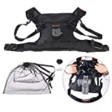 Commlite Rain-Proof Camera Carrying Vest Holder Quick Release Strap for Photographers Shooting for Canon Nikon Sony DSLR Cameras