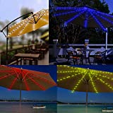 SIBOTER Umbrella Lights Patio Outdoor String Lights LED USB Operated Rechargeable Beach Bar Decor Commercial Use Waterproof Colorful RGB