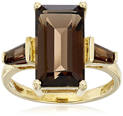 14k Octagon Gemstone Ring - 1