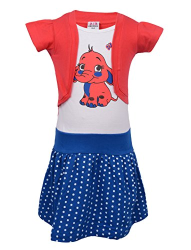 LIL ORCHIDS Girls Printed Casual Dress Red