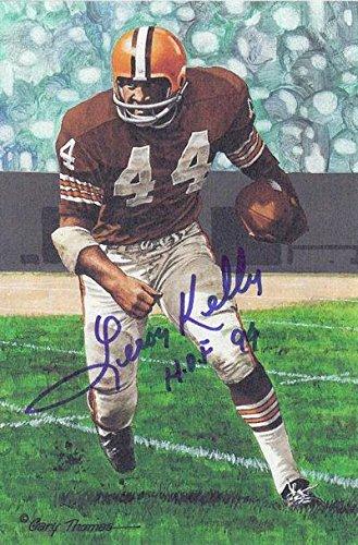 "1c0f2a37a Leroy Kelly Autographed Cleveland Browns Goal Line Art In  Blue""hof"" 21423 - JSA"