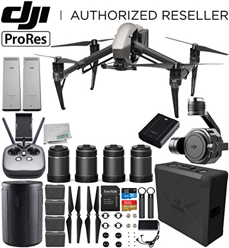 DJI Inspire 2 Quadcopter (Apple ProRes License Included) with Zenmuse X7 + DL & DL-S Lens Set Ultimate Handheld Bundle