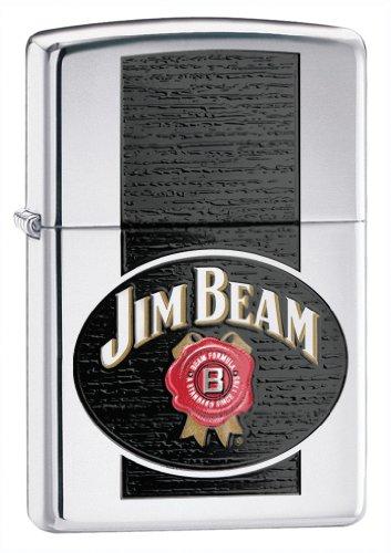 (Zippo Jim Beam High Polish Chrome Lighter)