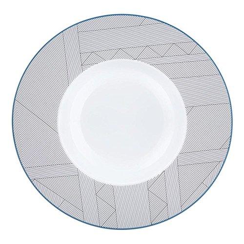 Vista Alegre Porcelain Orquestra Soup Plate - Set of 4 (Bowl Vista Rimmed Soup)