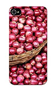 Awesome TGJFkO-2493-GDBSC QueenVictory Defender Tpu Hard Case Cover For Iphone 5/5s- Red Onions