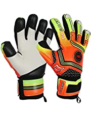 Save on GK Saver Football Goalkeeper Gloves Champ 01 Orange Negative Cut Goalie Gloves (YES FINGERSAVE/NO PERSONALIZATION, Size 5) and more