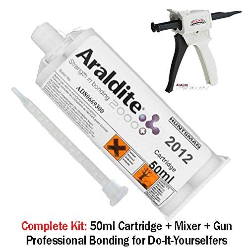 Huntsman Araldite 2012 Fast Setting All-Purpose Epoxy (50ml/1.7oz) Mixing Gun Kit