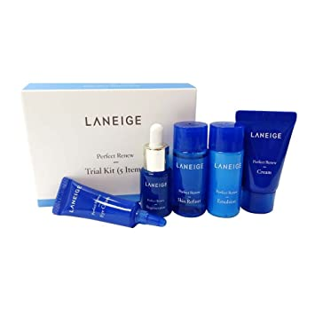 Amazon com : Laneige Perfect Renew Trial Kit (5 Items), samples for