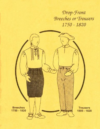 (1750-1820 Men's Drop Front Breeches or Trousers Pattern)