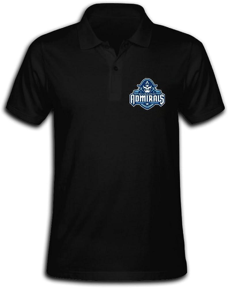 Men's Milwaukee Admirals Solid Short Sleeve Pique Polo Shirt