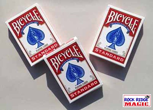Rock Ridge Magic Masters Bicycle Combo: Invisible, Svengali and a Standard Deck Red (Invisible Deck Bicycle)
