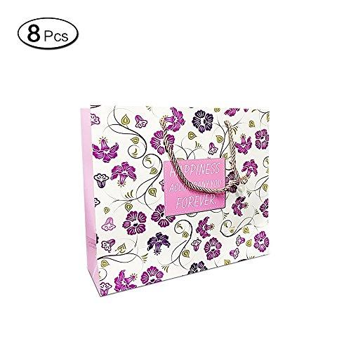 5c4da51d695e2 shopping 1 de Cadeau avec eacute es 8sacs Violet M 7 8 Jia 20cm HU Motif  ecirc ...