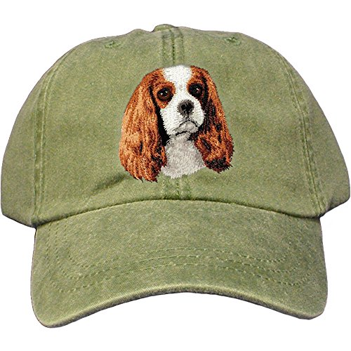 Cherrybrook Dog Breed Embroidered Adams Cotton Twill Caps - Spruce - Cavalier King Charles Spaniel