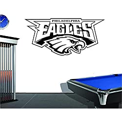 "Vinyl Decal Mural Sticker Philadelphia Eagles Wall Decor Man Cave Garage Sticker (18"" T x 38"" W)"