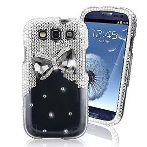 Cerhinu 3D Bow Tie Rhinestone/Diamond/C... Hard Plastic Protector Case Cover For Samsung Galaxy S3 I9300-Clear...
